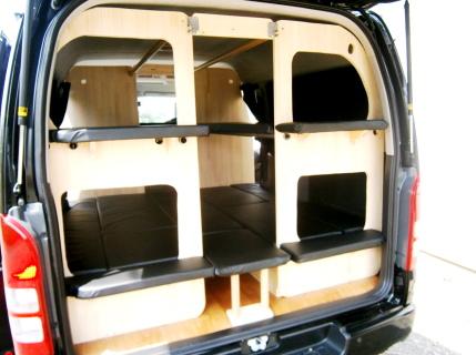 車中泊 ミニバン 2段 ベッド 製作